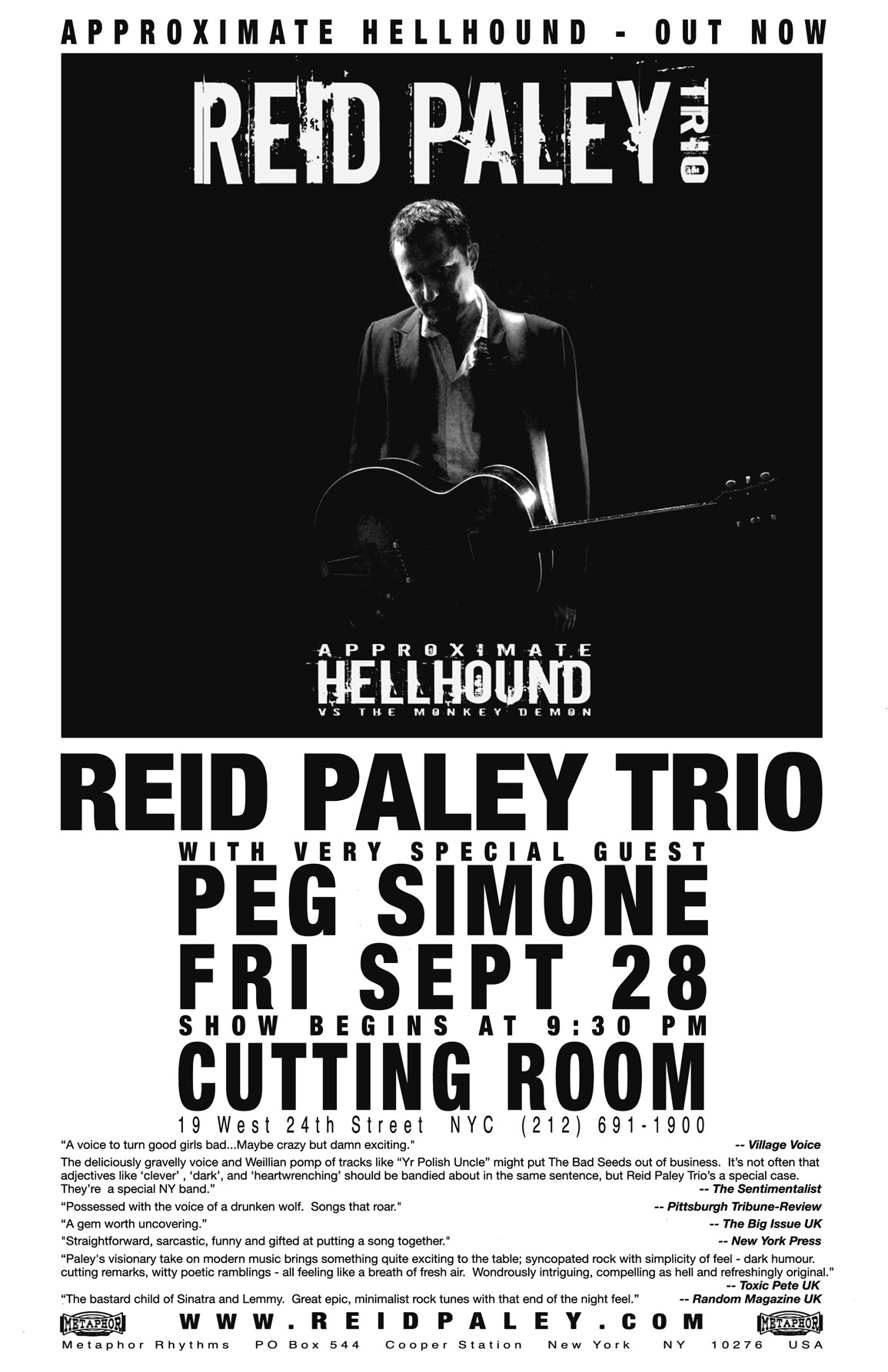 REID PALEY TRIO at the Cutting Room with Peg Simone 2007